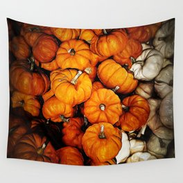 Tiny Pumpkins Pile Wall Tapestry