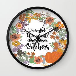 """Anne of Green Gables-L.M Montgomery-""""Octobers"""" design Wall Clock"""