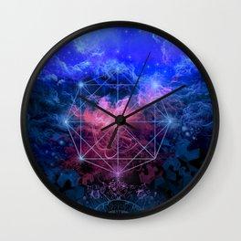 geometry space mandala Wall Clock