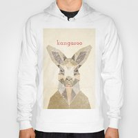 kangaroo Hoodies featuring Kangaroo by Alice Maclean Smith