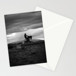 Black and White Cowboy Being Bucked Off Stationery Cards