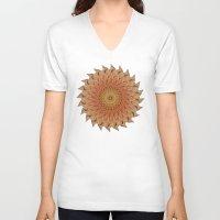 dahlia V-neck T-shirts featuring Dahlia by Deborah Janke