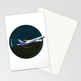 Airplane - Boeing 777 Stationery Cards