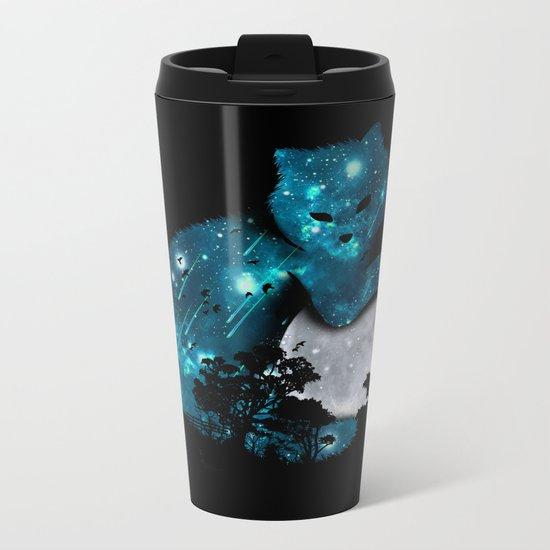 I can haz the moon Metal Travel Mug