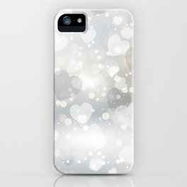 Silver Hearted iPhone Case