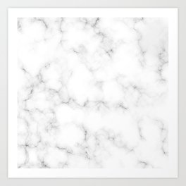 Creamy Marble Pattern With Smoky Veins Art Print