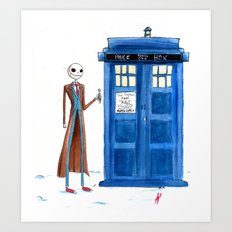 Doctor Wholington, Pumpkin Time Lord King! Art Print
