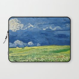 Wheatfield Under Thunderclouds by Vincent van Gogh (1890) Laptop Sleeve