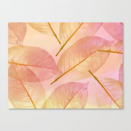 Pastel Fall Leaf Abstract Canvas Print