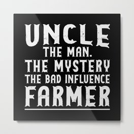 Uncle the Man The Mystery Metal Print