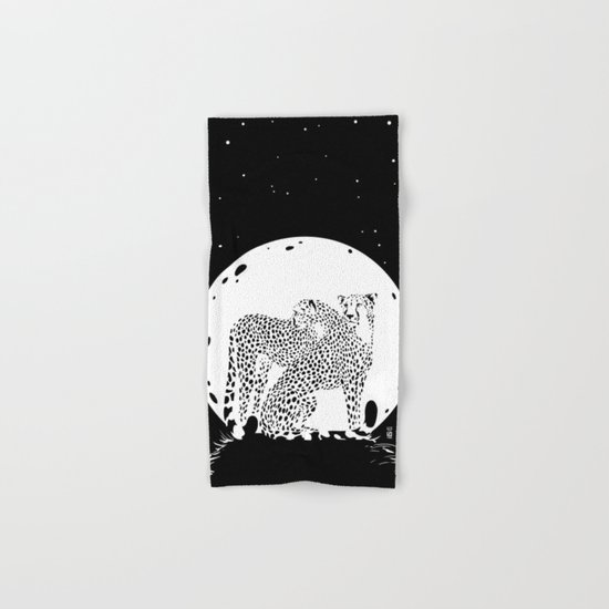 Moonlight Cheetahs Hand & Bath Towel