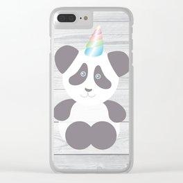 Panda Unicorn Clear iPhone Case