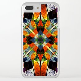 Kaleidoscope. Colorful fractal Clear iPhone Case