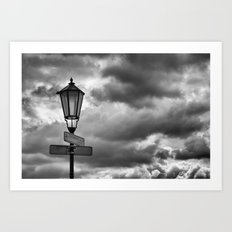 A Stormy Way Art Print
