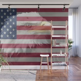 United States Freedom Eagle Wall Mural