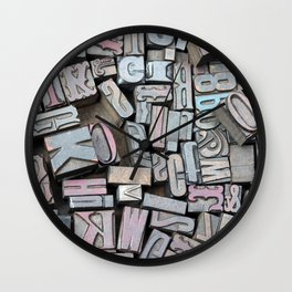 Print Studio Wall Clock