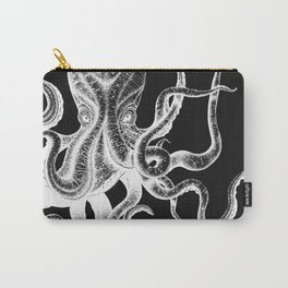 Vintage Octopus Black Carry-All Pouch