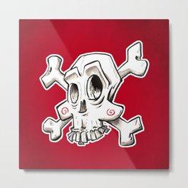Skull comic Metal Print
