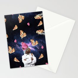 Cat Chef Pizza IceCream Stationery Cards