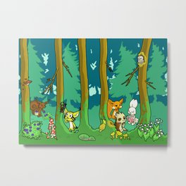 Deep inside the Forest Metal Print