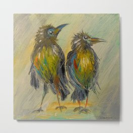 The long-awaited rain for the crows, Metal Print