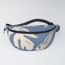 Simply Tropical Palm Leaves White Gold Sands on Aegean Blue Fanny Pack