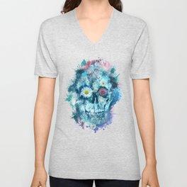 floral skull 2 Unisex V-Neck