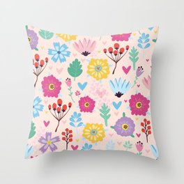 Beautiful Flowers Art Prints Throw Pillow