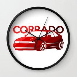 Volkswagen Corrado - classic red - Wall Clock