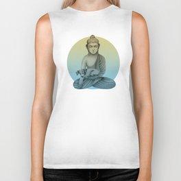 Buddha with dog3 Biker Tank