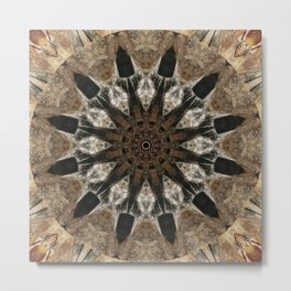 Mandala black Star Metal Print