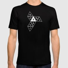 Unrolled D8 MEDIUM Mens Fitted Tee Black