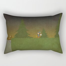 Forest Scene Rectangular Pillow