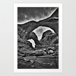 Double Arch - Arches National Park Art Print