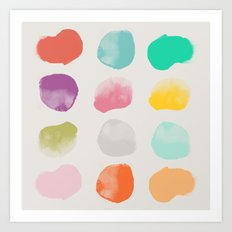 Colored Dots Art Print