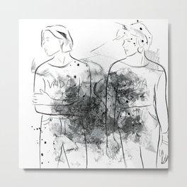 """VADA VADA"" The Garden Wyatt Shears Fletcher Shears Metal Print"