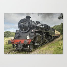 Beautiful steam train Canvas Print