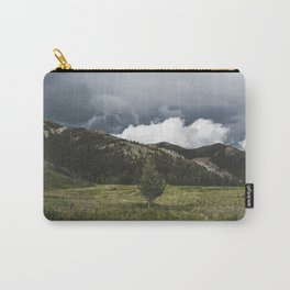 Landsape Waterton Meadow and Rolling Hills   Nature   Skyscape Clouds Carry-All Pouch