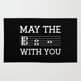 May the 4th be with you (dark colors/alto clef) Rug