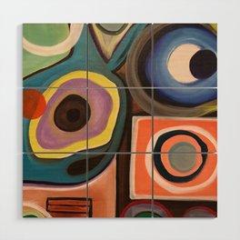 Abstract Painting Wood Wall Art