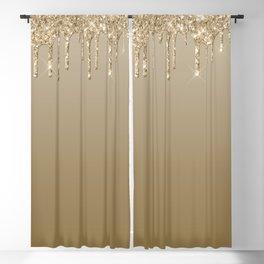 Beautiful Glittered Ice Cream Dripping Pattern Blackout Curtain