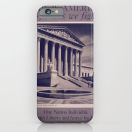 Vintage American World War 2 Poster - This is America: One Nation Indivisible (1943) iPhone Case