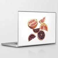 cara Laptop & iPad Skins featuring Cara Cara + Blood Oranges by Helen Krayenhoff