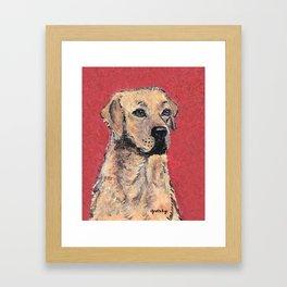 Labrador Retriever Portrait Framed Art Print