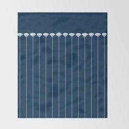 Pinstripe in Diamond Head Pins Throw Blanket