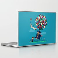 hallion Laptop & iPad Skins featuring Come Along, Carl by Karen Hallion Illustrations