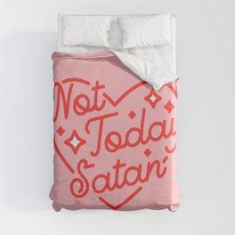 not today satan II Duvet Cover