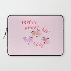 Lovely angry girl club Laptop Sleeve
