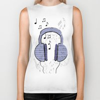 music notes Biker Tanks featuring Music by LCMedia