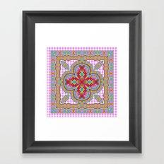 Mix&Match;  Pretty Pink Mandala Meditation pillow 01 Framed Art Print